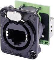 Neutrik RJ45 adatátviteli csatlakozó EtherCon®, fekete, NE 8 FDP-B Neutrik