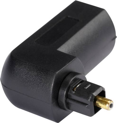 Digitális optikai audio kábel, Toslink dugó - dugó, 1 m, fekete, Kash 2050001496058