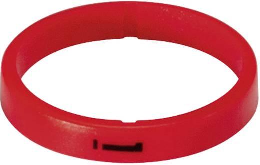 Kábeljelölő gyűrű készlet 10db piros színű Hicon HI-XC-05-RT