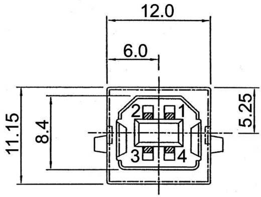 Beépíthető USB alj, B típus Top Entry