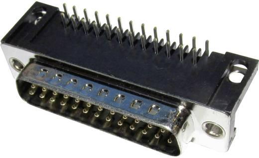 Encitech D-SUB dugó, 37 pól., könyök, MHDD37-M-T-B-S-RBM