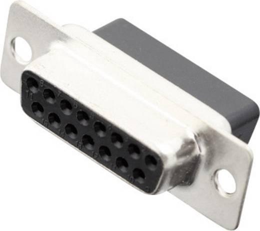 D-SUB hüvelyes kapocsléc 180 ° pólusszám: 15 MH Connectors MHDBC15-SS 1 db
