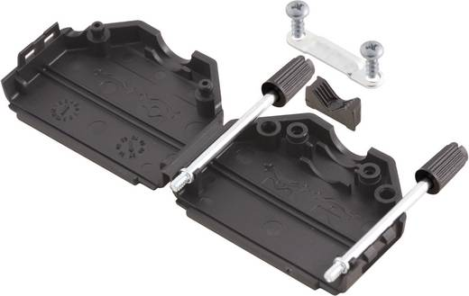 D-SUB doboz pólusszám: 15 műanyag 180 ° Fekete MH Connectors MHDPPK15-BK-K 1 db