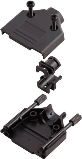 D-SUB doboz pólusszám: 15 műanyag 180 ° Fekete MH Connectors MHDTPPK-15-BK-K 1 db