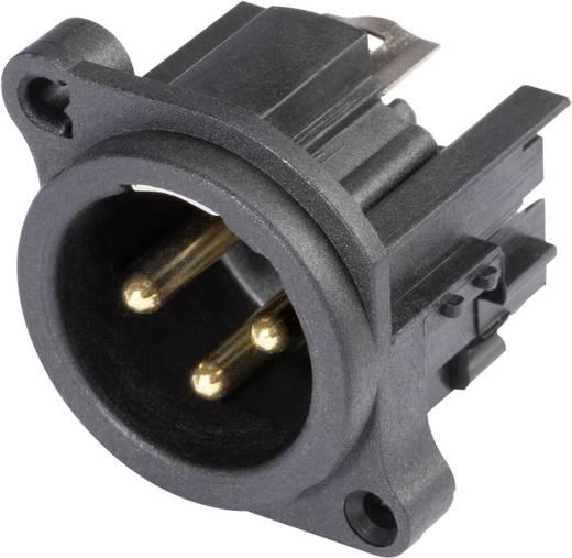 XLR csatlakozó dugó, beépíthető, függőleges pólusszám: 3 fekete Hicon HI-X3AM 1 db