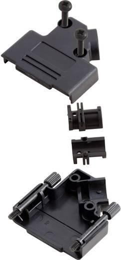 D-SUB doboz pólusszám: 15 műanyag 45 ° Fekete MH Connectors MHD45PPK-15-BK-K 1 db