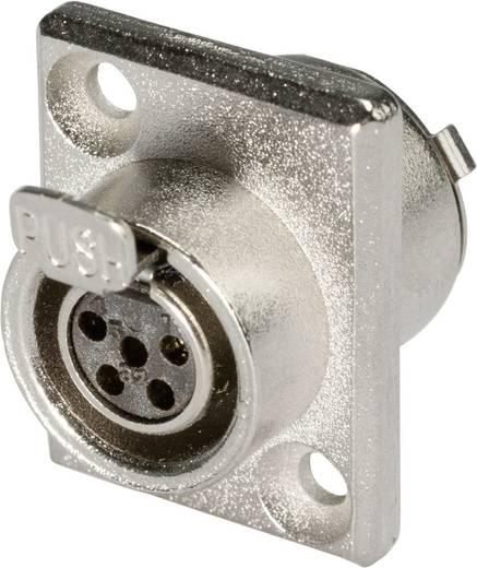 XLR csatlakozó alj, beépíthető, függőleges pólusszám: 5 ezüst Hicon HI-XMEF5 1 db