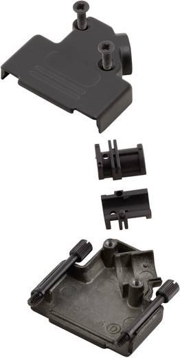 D-SUB doboz pólusszám: 15 fém 45 ° Fekete MH Connectors MHD45ZK-15-BK-K 1 db