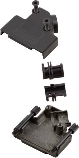D-SUB doboz pólusszám: 9 fém 45 ° Fekete MH Connectors MHD45ZK-9-BK-K 1 db