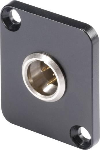 XLR csatlakozó peremes dugó, egyenes érintkezők pólusszám: 5 fekete Hicon HI-XMDM5 1 db