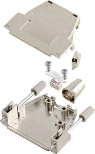 D-SUB ház, pólusszám: 37, műanyag, fémes, 180 °/45 °, ezüst, MH Connectors MHDSSK-M-37-S-K