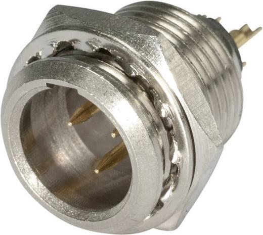 XLR csatlakozó dugó, beépíthető, függőleges pólusszám: 3 ezüst, fekete Hicon HI-XMEM3 1 db