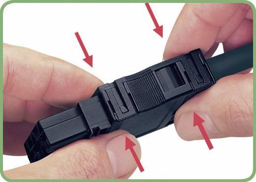 Hálózati csatlakozó dugó, egyenes, pólusszám: 3, 16 A, fekete, WAGO 890-213