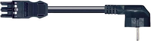 Hálózati csatlakozókábel, alj/dugó, pólusszám: 3, fekete, WAGO 771-9993/306-101, 1 m