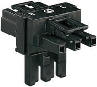 Hálózati T elosztó, pólusszám: 3, fekete, WAGO 770-606 WAGO