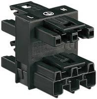 Hálózati elosztó /Hálózati csatlakozóalj, pólusszám: 3, fekete, WAGO 770-607 WAGO