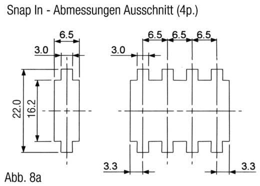 MiniClamp csatlakozó, 3 pólusú, AWG24-26 sárga
