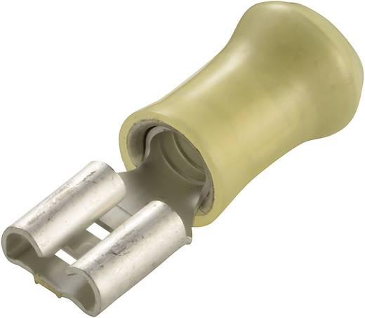 Csúszósaru hüvely 6,3 x 0,8 mm részlegesen szigetelt, sárga, TE Connectivity 160314-2