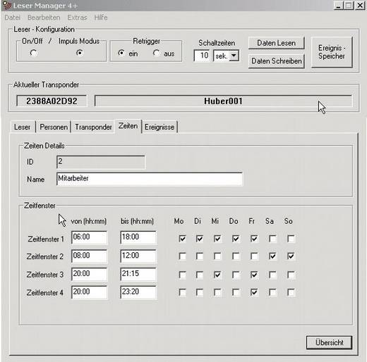 Transzponderes beléptető rendszer esemény feljegyzéssel