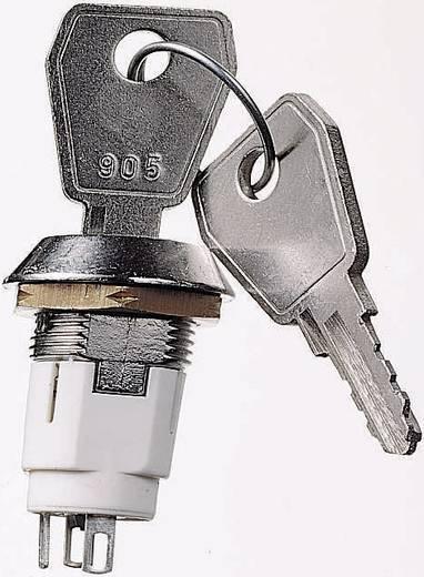 Lorlin kulcsoskapcsoló, kulcs mindkét állásban kihúzható, 50 V/DC, 3 A, Ø16 mm, 90˚