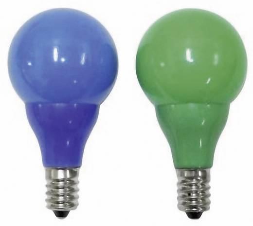 Karácsonyfa pótizzó, E14, 12 V, 0,24 W, 2 db, kék/zöld, Konstsmide 5684-420