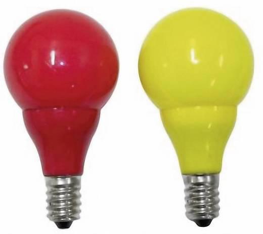 LED-es karácsonyfa pótizzó, 2 db, 12V, 0,24W, E14, sárga/piros, Konstsmide 5684-520