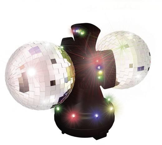 Tükörgömb, asztali dupla diszkógömb LED-es megvilágítással Ø160 mm