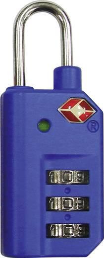 Számkombinációs lakat, számzáras lakat 25mm-es, kék színű TSA