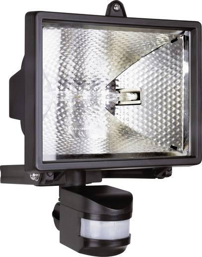 Halogén kültéri reflektor mozgásérzékelővel, R7s, 400 W, 230 V, IP44, fekete, ES42
