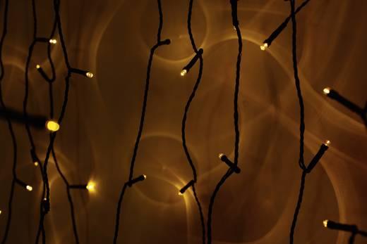 LED-es kültéri mikro fényfüzér, hálózati, 80 borostyán LED, 3260 cm, Polarlite PLC-03-003