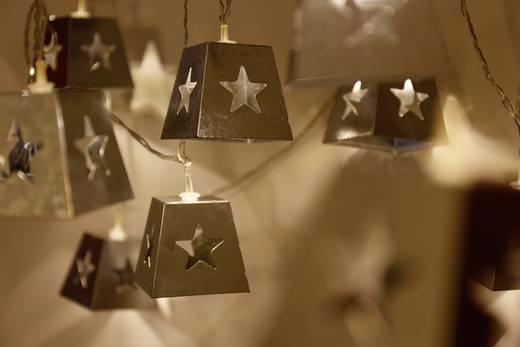 LED-es beltéri fényfüzér, csillagokkal, 10 LED Melegfehér 770 cm Polarlite LDC-01-001