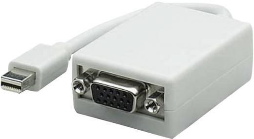 DisplayPort - VGA átalakító adapter, 1x mini DisplayPort dugó - 1x VGA aljzat, fehér, Manhattan