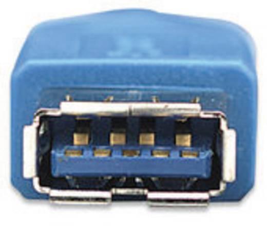 USB 3.0 kábel [1x USB 3.0 dugó A - 1x USB 3.0 alj A] 2 m kék Manhattan 756602