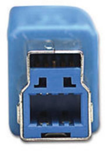USB 3.0 kábel [1x USB 3.0 dugó A - 1x USB 3.0 dugó B] 3 m kék Manhattan 756605