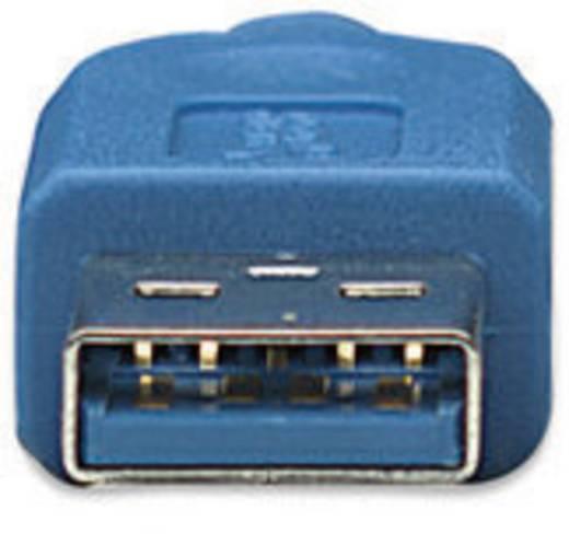 USB 3.0 kábel [1x USB 3.0 dugó A - 1x USB 3.0 mikro dugó B] 1 m kék Manhattan 756606