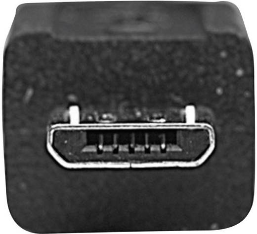 USB 2.0 kábel [1x USB 2.0 dugó A - 1x USB 2.0 mikro dugó B] 0.50 m fekete Manhattan 756615