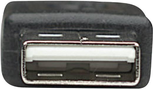USB 2.0 kábel [1x USB 2.0 dugó A - 1x USB 2.0 mini dugó B] 1.80 m fekete Manhattan 756617
