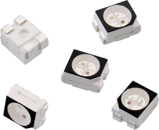 SMD LED, többszínű 3528 Piros, Világoszöld 250 mcd 120 ° 30 mA 2 V Würth Elektronik 150141RV73100