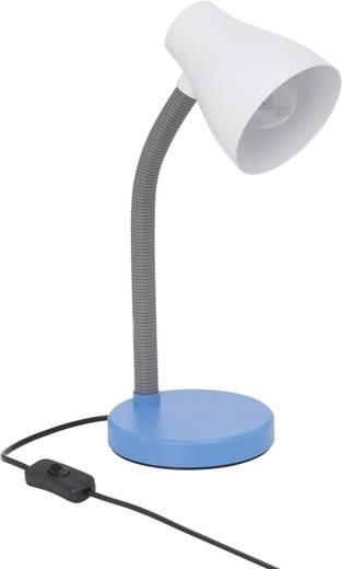 Álló asztali lámpa E27 11 W, fehér/kék, Brilliant Borgo 92931/73