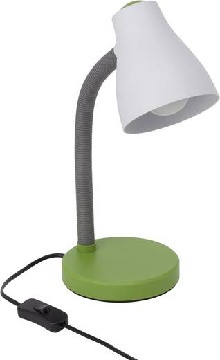 Álló asztali lámpa E27 11 W, fehér/zöld, Brilliant Borgo 92931/74