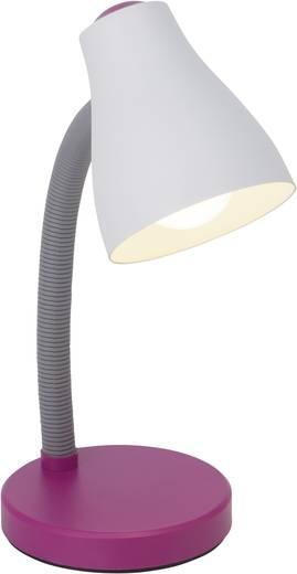 Álló asztali lámpa E27 11 W, fehér/lila, Brilliant Borgo 92931/78