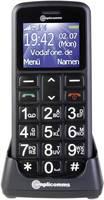 Nagygombos mobiltelefon időseknek vészhívóval, fekete, Amplocomms PowerTel M6200 Amplicomms