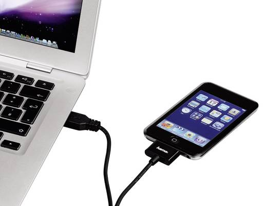 Apple töltőkábel iPhone iPad iPod adatkábel [1x USB 2.0 dugó A - 1x Apple Lightning dugó] 1,5 m fekete Hama 93577