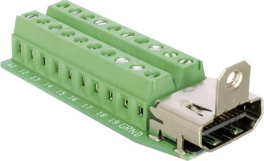 HDMI csatlakozó alj, beépíthető, függőleges, pólusszám: 20, ezüst, Delock 65168