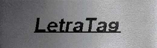DYMO feliratozószalag LetraTag, 12mm, ezüst/fekete, fém, S0721750