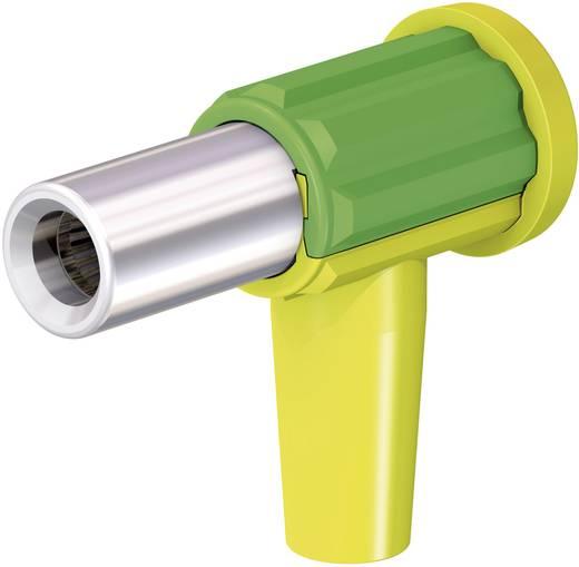 Szerelhető könyökdugó mérőkábelekhez 4mm² átmérővel zöld-sárga MultiContact