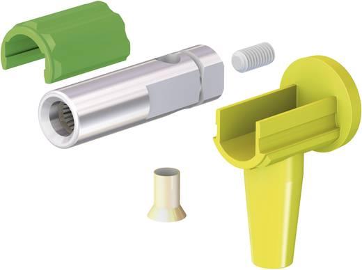 Szerelhető könyökdugó mérőkábelekhez 6mm² átmérővel zöld-sárga MultiContact