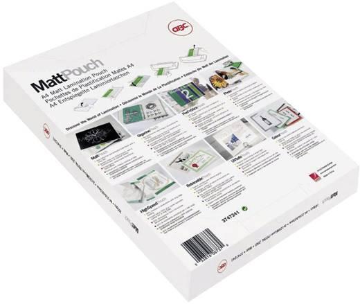 GBC HeatSeal matt lamináló fólia, 216x303 mm (A4), 2x100 mikron vastagságú, 100 ív/csomag, GBC 3740491
