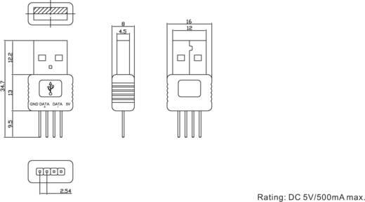 Nyákra ültethető USB dugó, A típusú