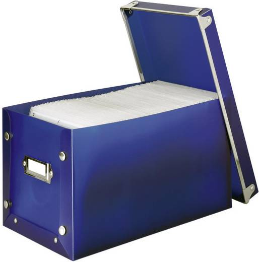 CD tároló doboz, kék, 140 db-os, Hama Media Box 140